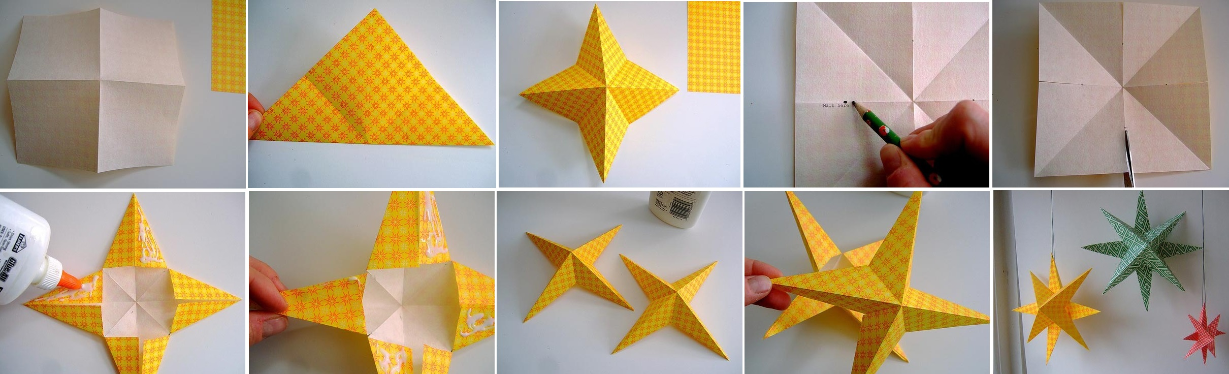 Как сделать звезду из бумаги украшения