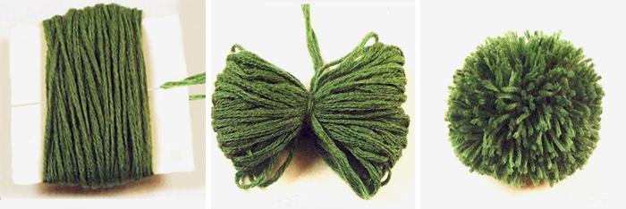 Как сделать помпоны для вязаной шапки 695