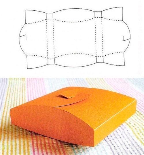 Как сделать коробочку из картона для подарков 49
