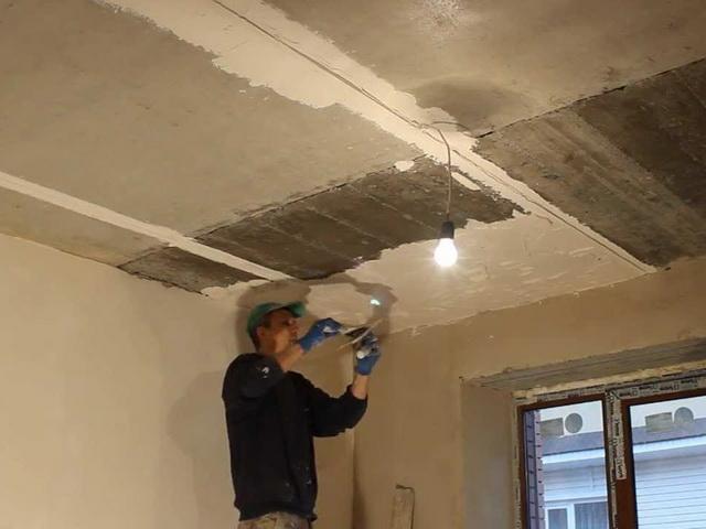 Выровнять потолок своими рукам